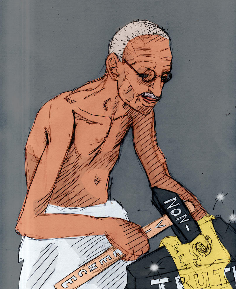 Tea Party and Gandhi's Hammer by Asderathos