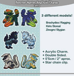 [FOR SALE] Monster Hunter Keychains / Info Below! by HTRuiz