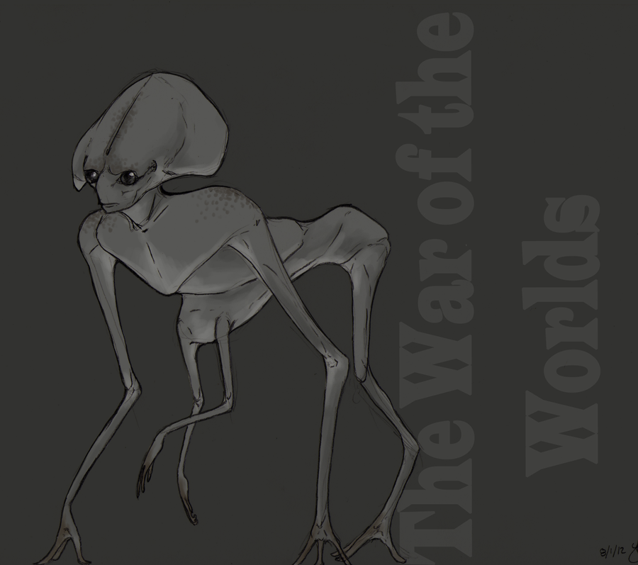 war of the worlds alien drawing