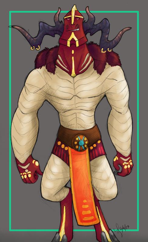 Meridus: Battleborn Thrall by aireona93