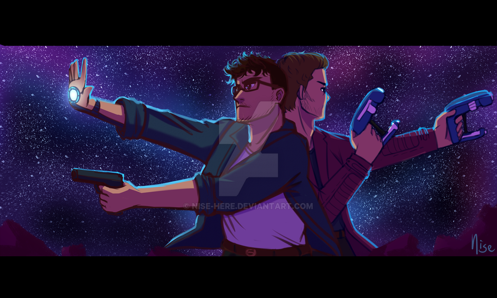 Guardians of the Galaxy/Self Insert Commission by nise-here