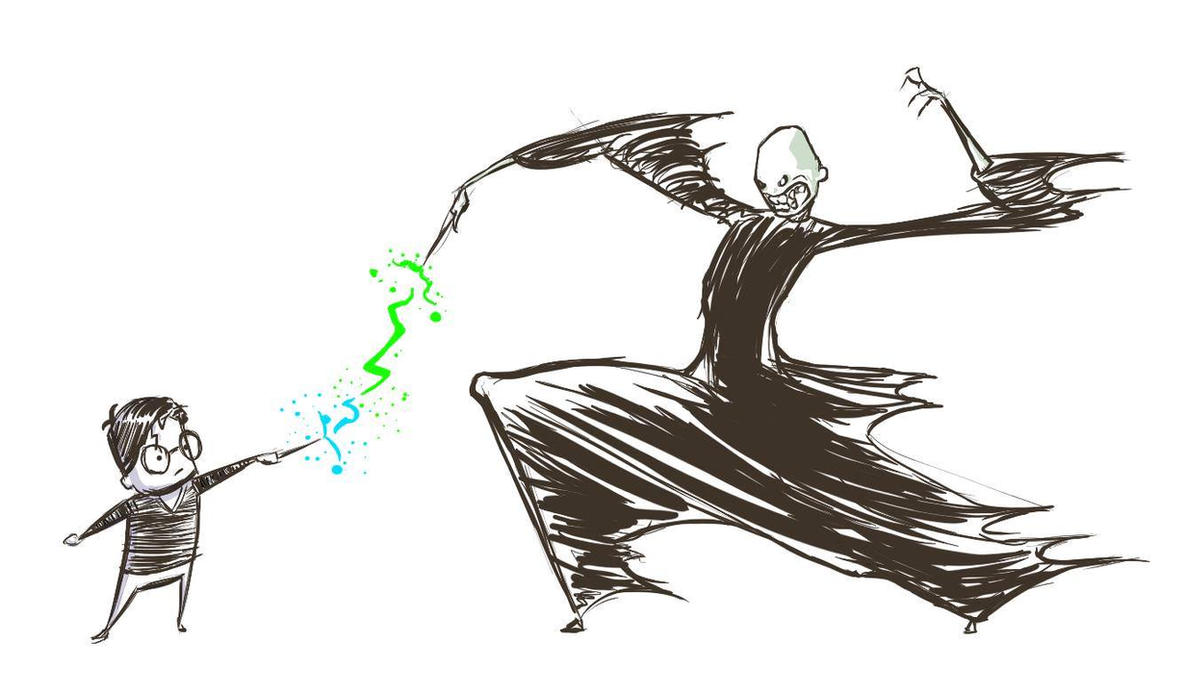 Harry VS Voldemort by SkuLL-Inc