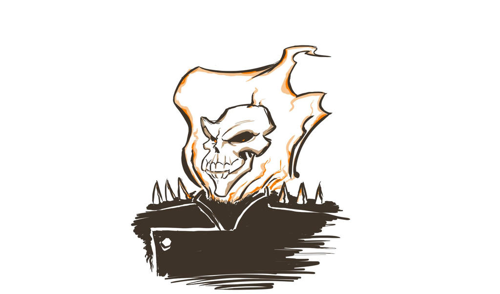 ghost Rider sketch by SkuLL-Inc