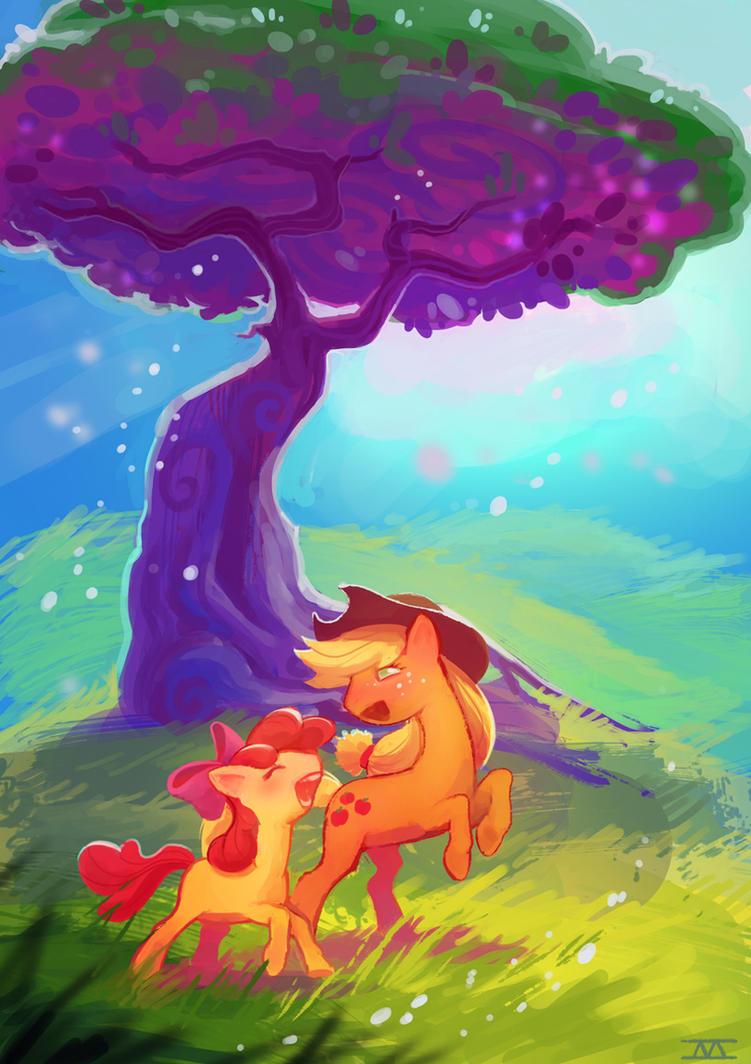 Apple Ponies by cmaggot