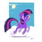 Purple pony by cmaggot