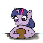 Twilight Sparkle eats a sandwich by cmaggot