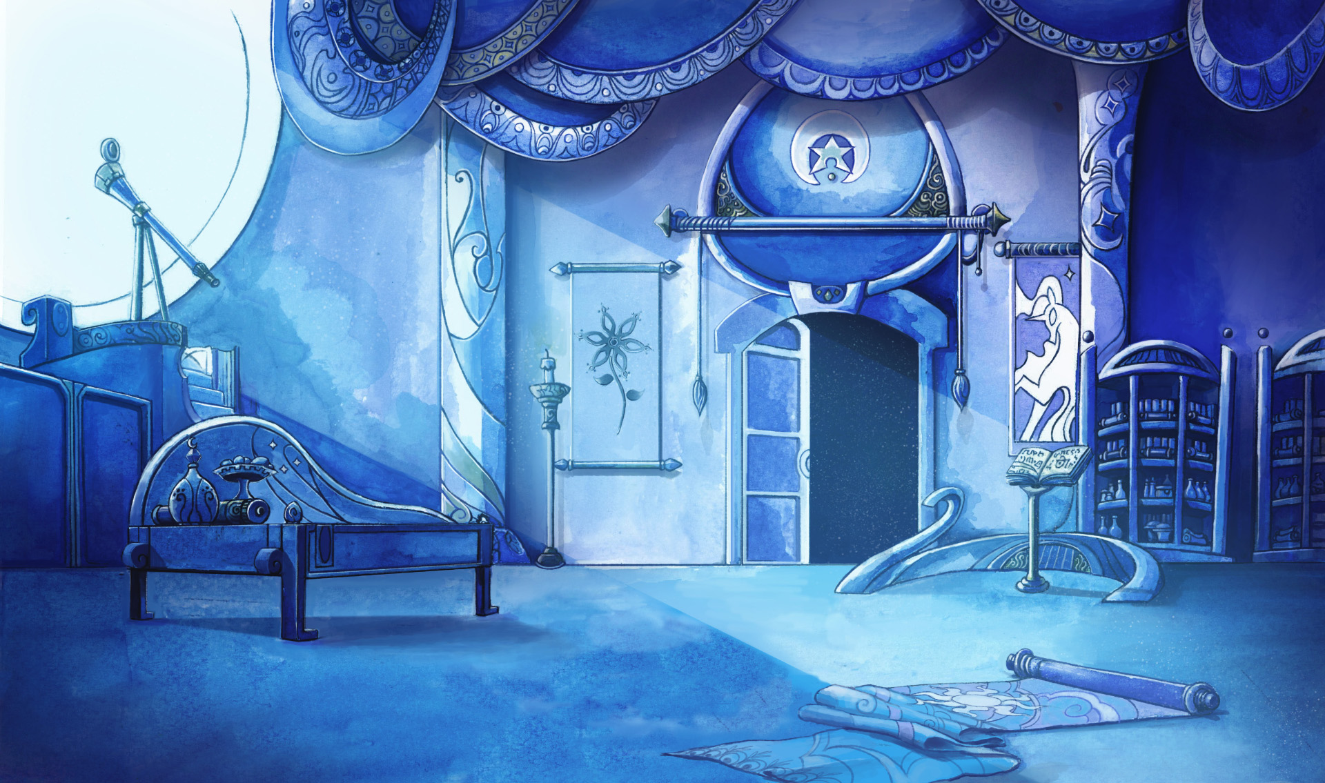 lullaby for a princess lunas room background by cmaggot - Princess Room