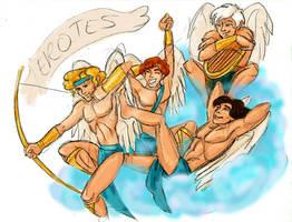 Aphrodite's Boys the Erotes by MaryJet