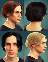 dforce Timothee Hair for G8M G8.1M and Torment 8.1 by Toyen-Art