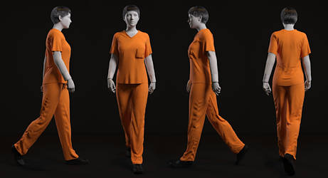dForce Prison Inmate Clothing for G8F and G8.1F by Toyen-Art