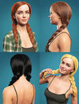 Cute Braids for Genesis 8 and 8.1 Females by Toyen-Art