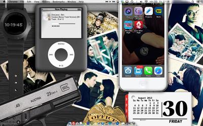 Rookie Blue desktop with Geek Tools