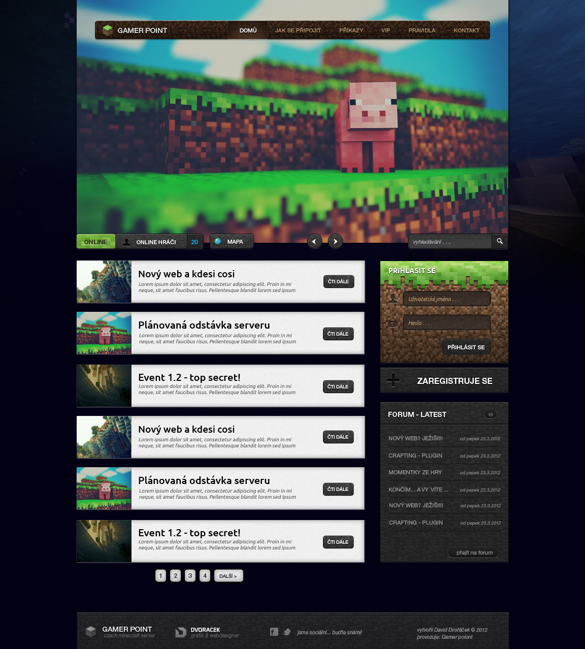 Magicraft - wordpress theme for minecraft by igrenic on DeviantArt