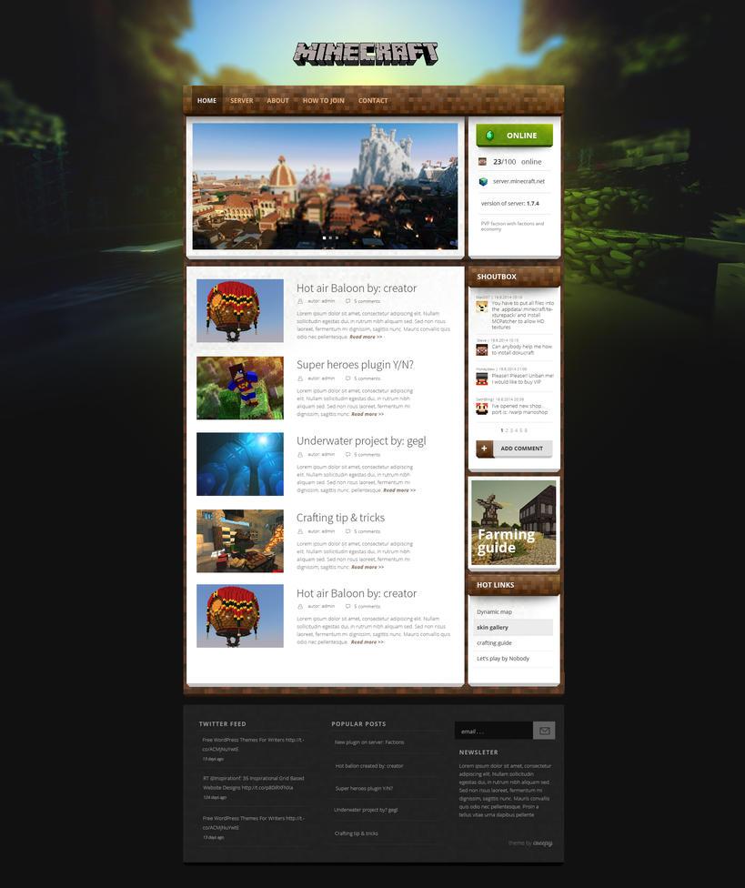 Magicraft - wordpress theme for minecraft by igrenic
