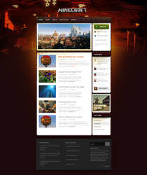 Magicraft - wordpress theme for minecraft = NETHER by igrenic
