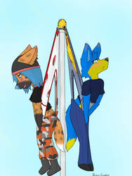 Commission 5~Flagpole Wedgie by Alexis-Faustus