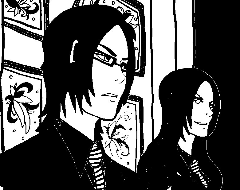 The Denorim Twins  (Black and White) by One-Wicked-Symphony