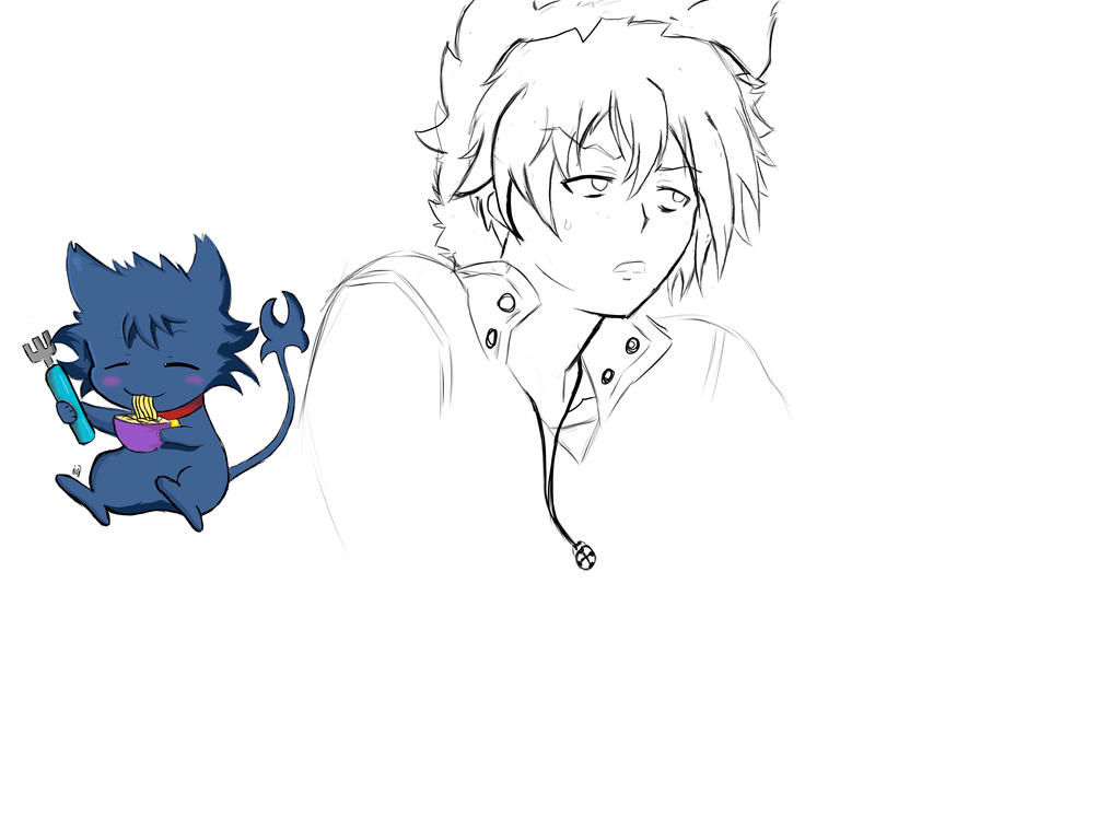 Kuro sketch  by JustUsWaffles
