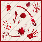 Blood splatters and hand prints png by TinaLouiseUk