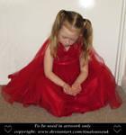 Girl red dress (1) by TinaLouiseUk