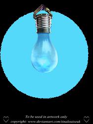 Blue bulb by TinaLouiseUk