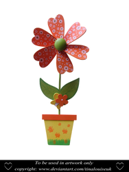 Wooden flower by TinaLouiseUk