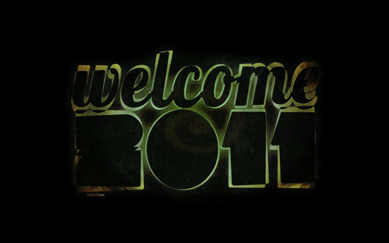 desktop wallpaper welcome 2011 by designi1 on deviantart