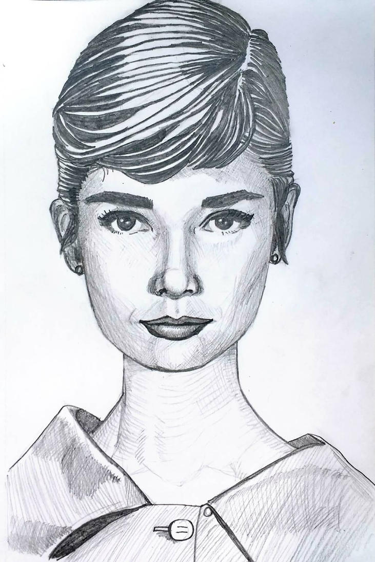 Audrey Hepburn by DParkerEdwards