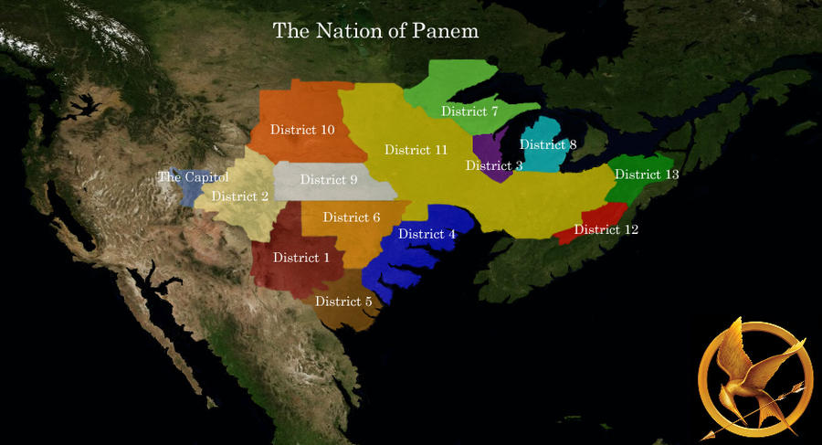 Map Of Panem Hunger Games By Guido On DeviantArt - Hunger games us map