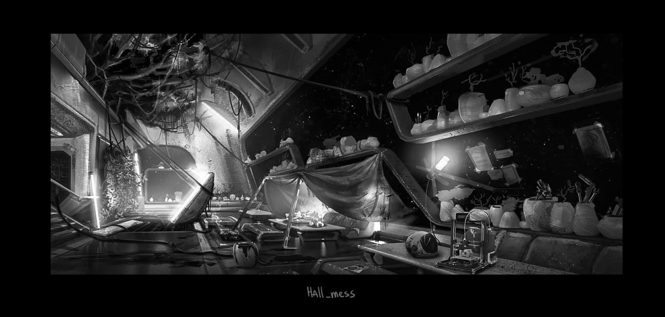 environment for sci-fi movie project by monsta87