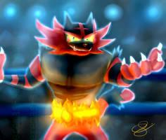 Incineroar - Pokemon Sun / Moon by Eremas-su