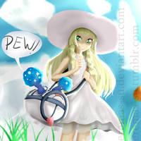 Lillie and Nebby - Pokemon Sun and Moon by Eremas-su