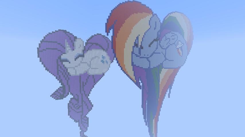 My Little Pony Heart Pixel Art Templates