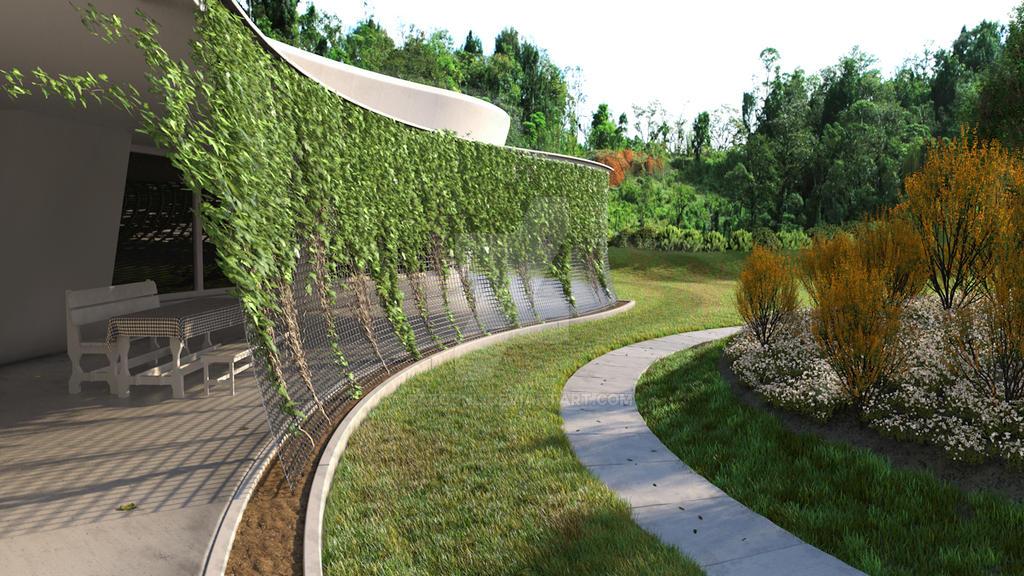 Cinema 4d landscape by razornl on deviantart for 4d garden design