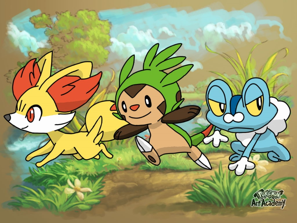 fennekin chespin and froakie by corp91 on deviantart