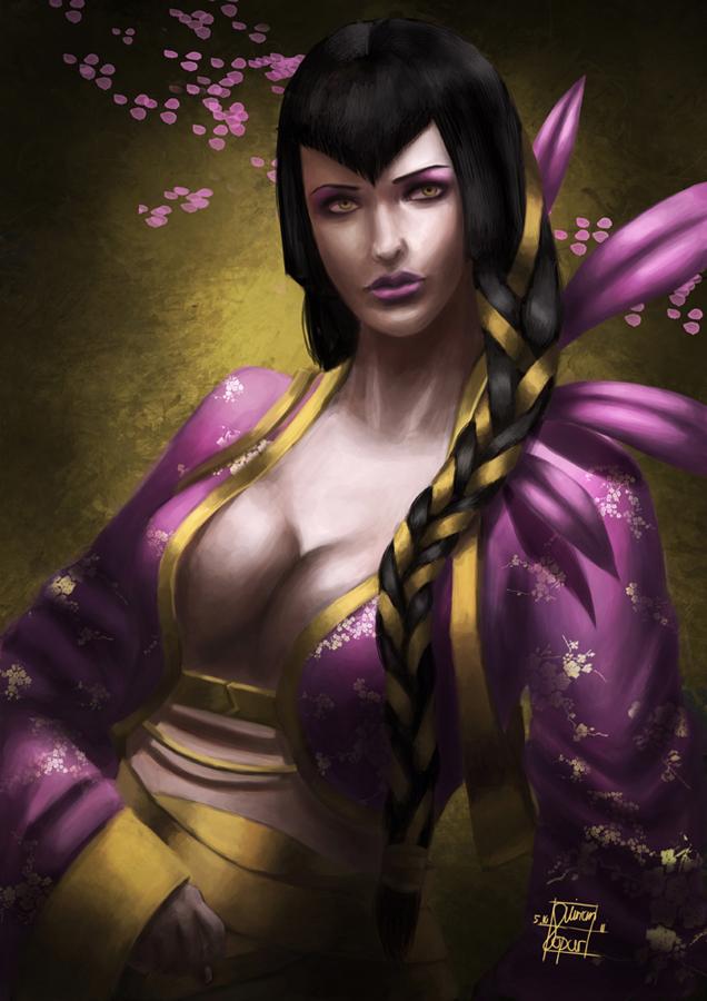 Cherry blossom goddess by LadyAtuna