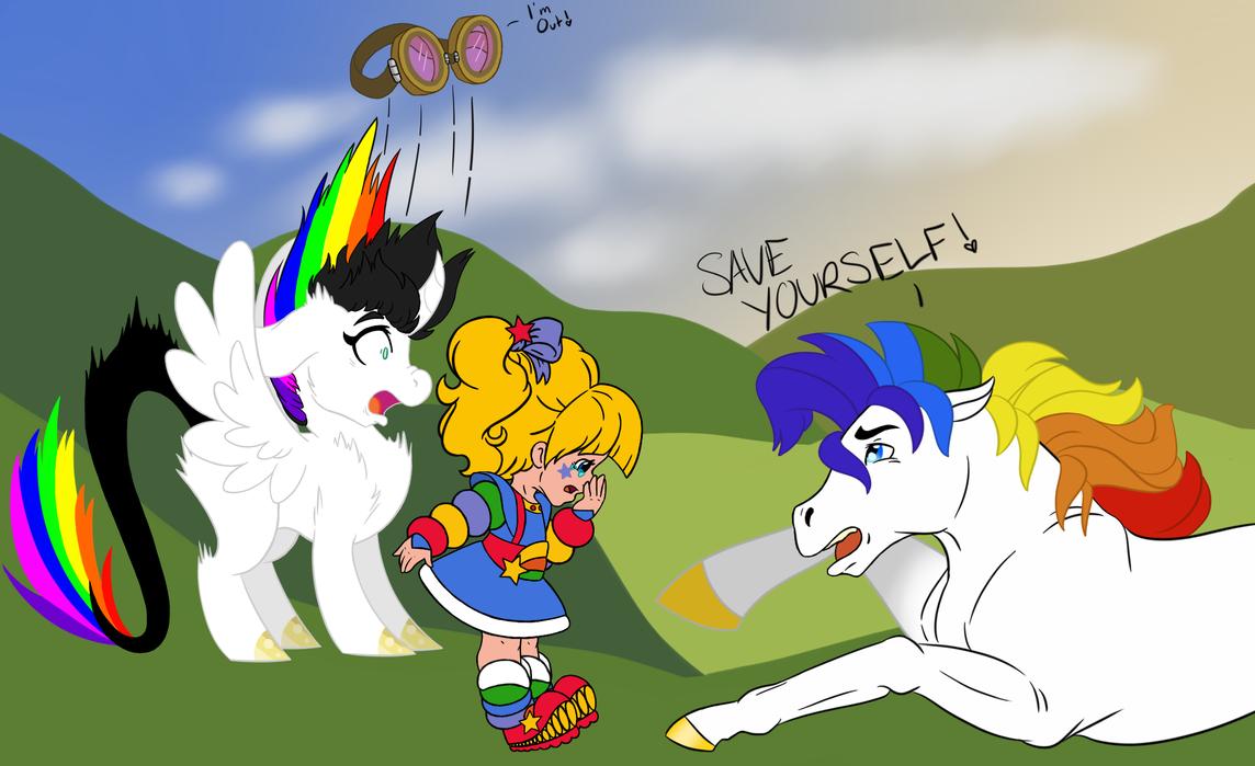 Rainbow Brite Contest Entry- Run Blissy Run! by Sashagami12