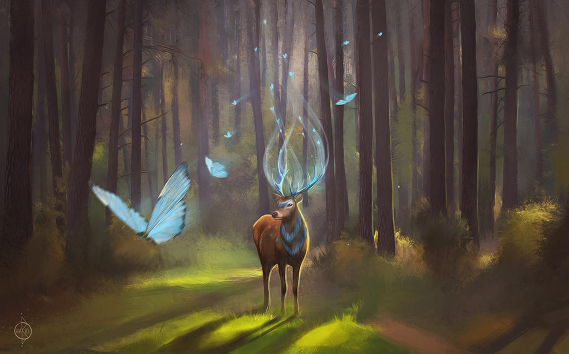 Good morning deer by HarizmaArt