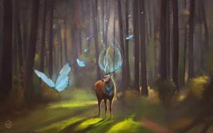 Good morning deer by HarizmaArt