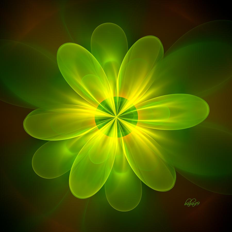 Green Flower By Baba49 On DeviantArt