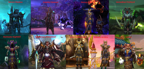 WOW Characters by SacuraShadow
