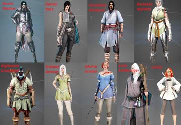 Black Desert Characters by SacuraShadow