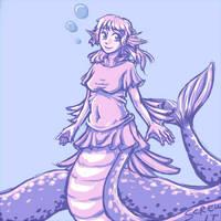 Meringue the Sea Naga by somiad