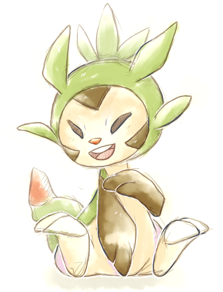 Chespin by Nekojiima