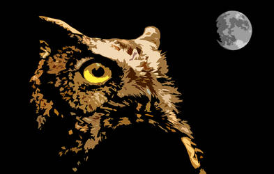 Horned Owl by OurHeroXero