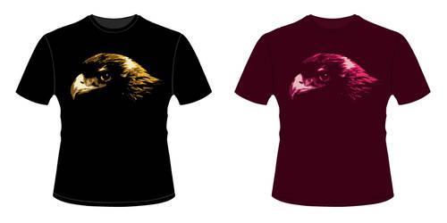 Golden Eagle shirt design by OurHeroXero