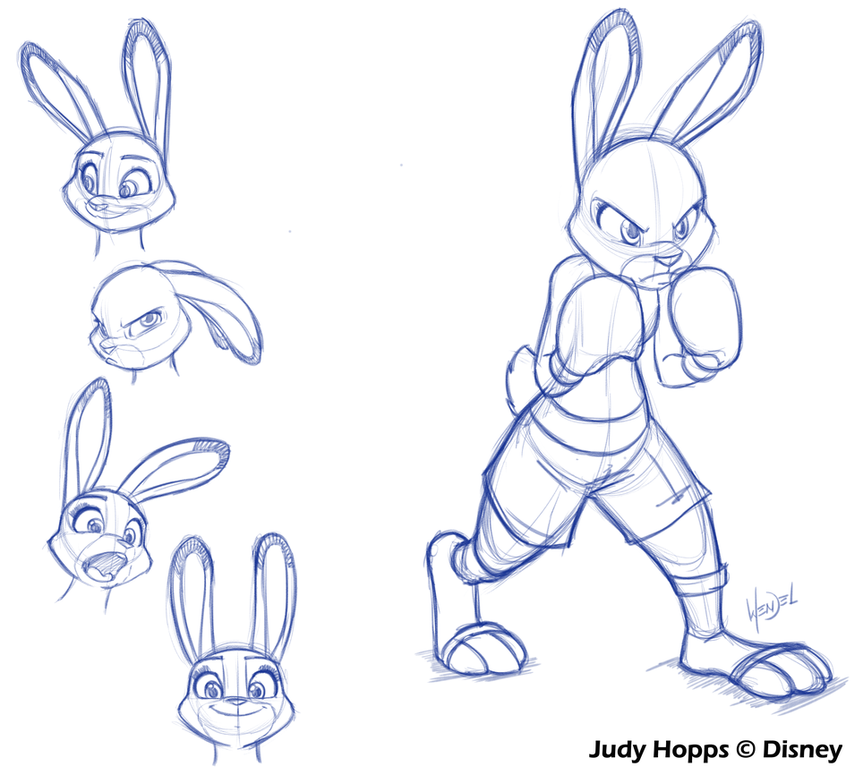 Zootopia Line Art : Judy hopps some more sketches by drawing ever on