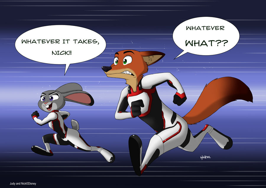 Judy and Nick in quantum realm suit. by Drawing-4Ever
