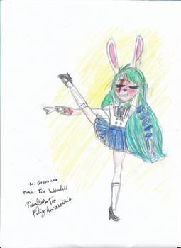 Charlotte, the rabbit girl - by Geovanna.