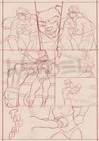 Underground Clash, page 06, sketches.